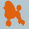 French Poodle Orange by Naxart Studio