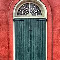 French Quarter Arched Door by Brenda Bryant