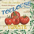 French Veggie Sign 3 by Debbie DeWitt