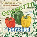 French Veggie Sign 4 by Debbie DeWitt