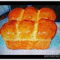 Fresh Baked Bread Three Bun Loaf by Barbara Griffin