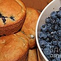Fresh Blueberries And Muffins by Barbara Griffin