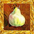 Fresh N Happy Pear Decorative Collage by Irina Sztukowski
