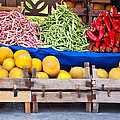 Fresh Organic Fruits And Vegetables At A Street Market by Leyla Ismet
