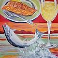 Fresh Salmon Dinner by Shannon Lee
