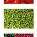 Fresh Vegetable Triptych by Thomas Marchessault