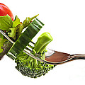 Fresh Vegetables On A Fork by Elena Elisseeva