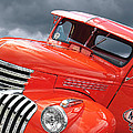 Freshly Squeezed - 1945 Orange Chevy  by Gill Billington