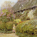 Freshwater Cottage Wc On Paper by Helen Allingham