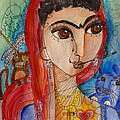 Frida Love For La Madonna by Laurie Maves ART
