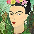 Frida With Flowers by Stephanie Moore
