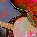 Friends Again Digital Banjo And Guitar Art By Steven Langston by Steven Lebron Langston