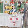 Friends From The Town - Dining Room by Carl Larsson