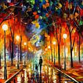 Friendship - Palette Knife Oil Painting On Canvas By Leonid Afremov by Leonid Afremov