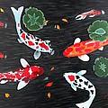 Friendship Underwater Big Commissioned Painting by Georgeta  Blanaru