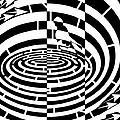 Frisbee Toss Maze  by Yonatan Frimer Maze Artist