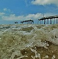 Frisco Pier Water Level View 1 5/24  by Mark Lemmon