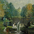 Frog Pond In Boston Public Gardens by Arthur Clifton Goodwin