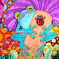 Frog Under A Mushroom by Nick Gustafson
