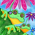 Froggies And Flowers by Nick Gustafson