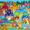 Frogs And Magic Mushrooms by Nick Gustafson