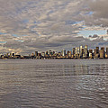 from Alki Beach Seattle skyline by SC Heffner