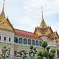 Front Of Reception Hall At Grand Palace Of Thailand In Bangkok by Ruth Hager