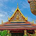 Front Of Royal Temple At Grand Palace Of Thailand In Bangkok by Ruth Hager