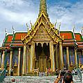 Front Of Thai-khmer Pagoda At Grand Palace Of Thailand In Bangkok by Ruth Hager