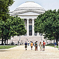 Front Of The National Gallery Of Art In Washington Dc by William Kuta