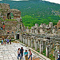 Front Of Theater In Ephesus-turkey by Ruth Hager