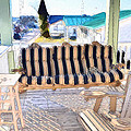 Front Porch On An Old Country House  3 by Jeelan Clark