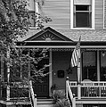 Front Porch Usa Black And White by Thomas Woolworth