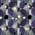 Frosted Purple Flower by Ann Calvo