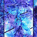 Frozen Castle Window Blue Abstract by Irina Sztukowski