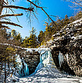 Frozen Awosting Falls by Jim DeLillo