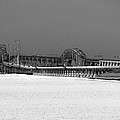 Frozen Bay Bridge by Skip Willits