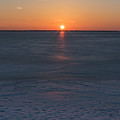 Frozen Bay Sunset Jersey Shore by Terry DeLuco