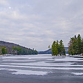 Frozen Bear Creek Lake by Bill Cannon