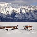 Lake Minnewanka, Alberta - Banff - Frozen Docks by Ian Mcadie