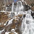 Frozen Falls From The Bridge by John Wall