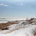 Frozen Huron Shore 1 by Scott Hovind