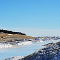 Frozen Lake Michigan by Linda Kerkau