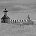 Frozen Lighthouses In Michigan by Dan Sproul