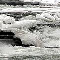 Frozen Niagara River Rapids Above Niagara Falls by Rose Santuci-Sofranko