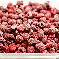 Frozen Raspberries by Frank Gaertner
