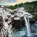 Frozen Snoqualmie Falls by Inge Johnsson