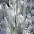 Spectacular Ice Fountain In Letchworth State Park - 4 by Tom Doud