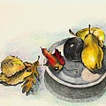 Fruit And Autumn Leaves by Judy Swerlick