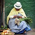 Fruit And Vegetable Vendor Cuenca Ecuador by Kurt Van Wagner